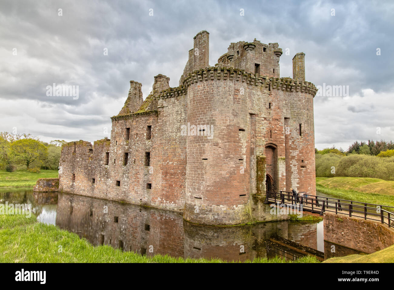 Caerlaverock Castle in Dumfries and Galloway Council Area in Scotland - Stock Image