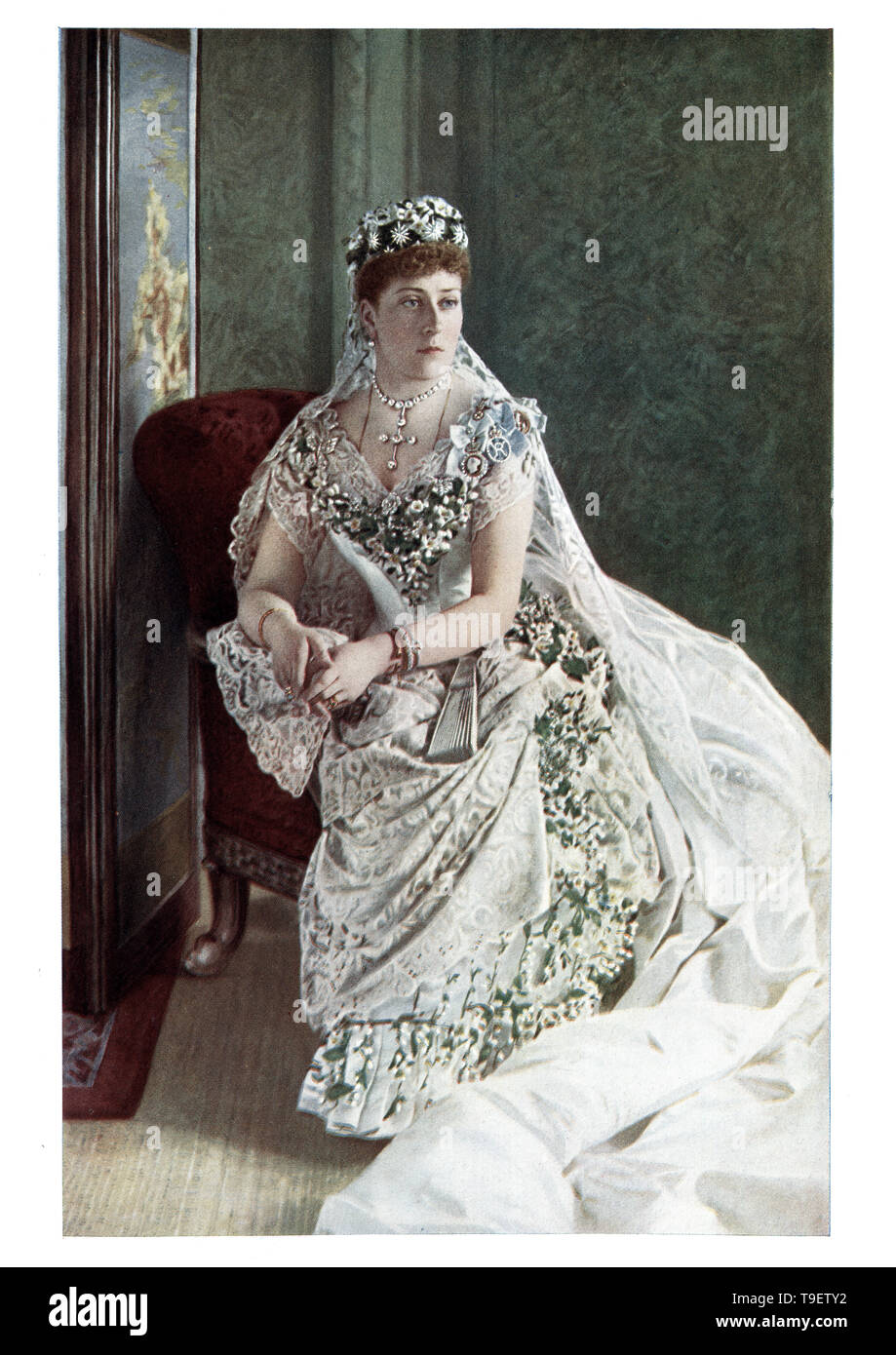 Princess Beatrice of the United Kingdom (Princess Henry of Battenberg), the fifth daughter and youngest child of Queen Victoria and Prince Albert. - Stock Image