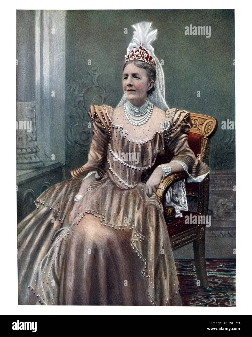 Sophia of Nassau Queen consort of Sweden and Norway, Sophia was Queen of Sweden for 35 years, longer than anyone before her. - Stock Image