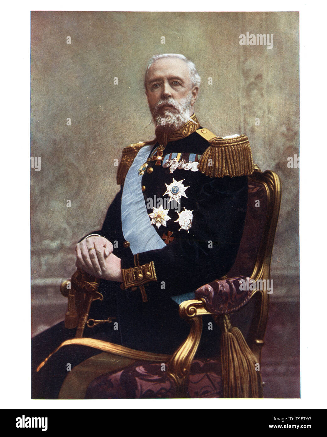 King Oscar II of Sweden was King of Sweden from 1872 until his death, and the last Bernadotte King of Norway from 1872 until his dethronement in 1905. - Stock Image