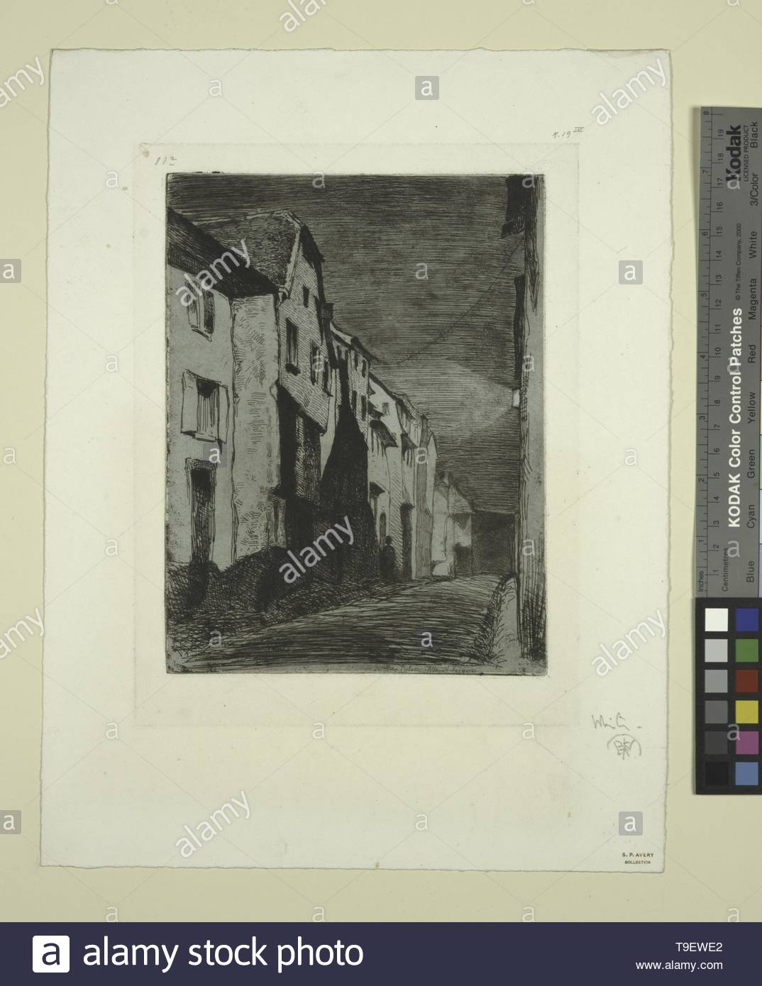 Whistler,JamesMcNeill(1834-1903)-Street at Saverne [2] - Stock Image
