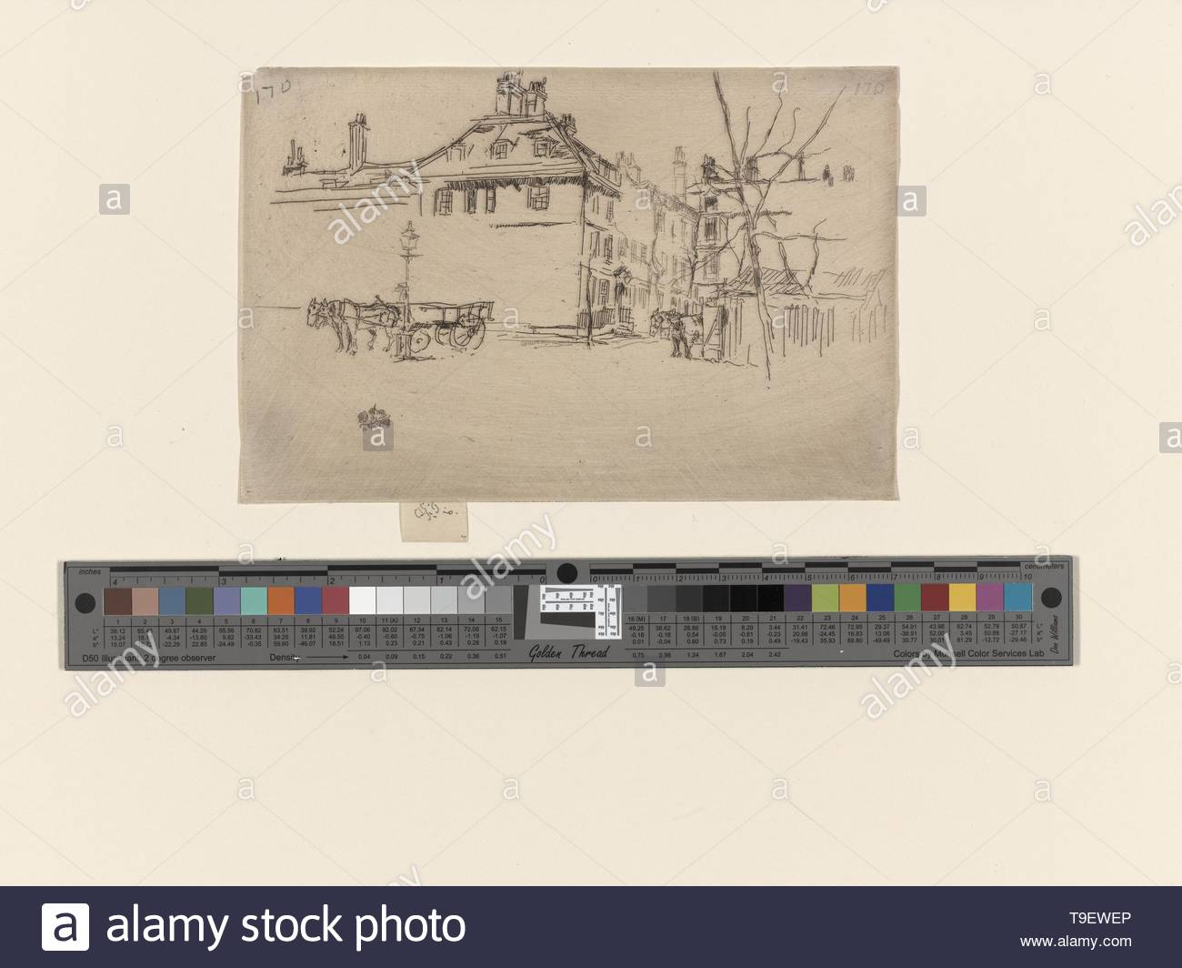 Whistler,JamesMcNeill(1834-1903)-Temple - Stock Image