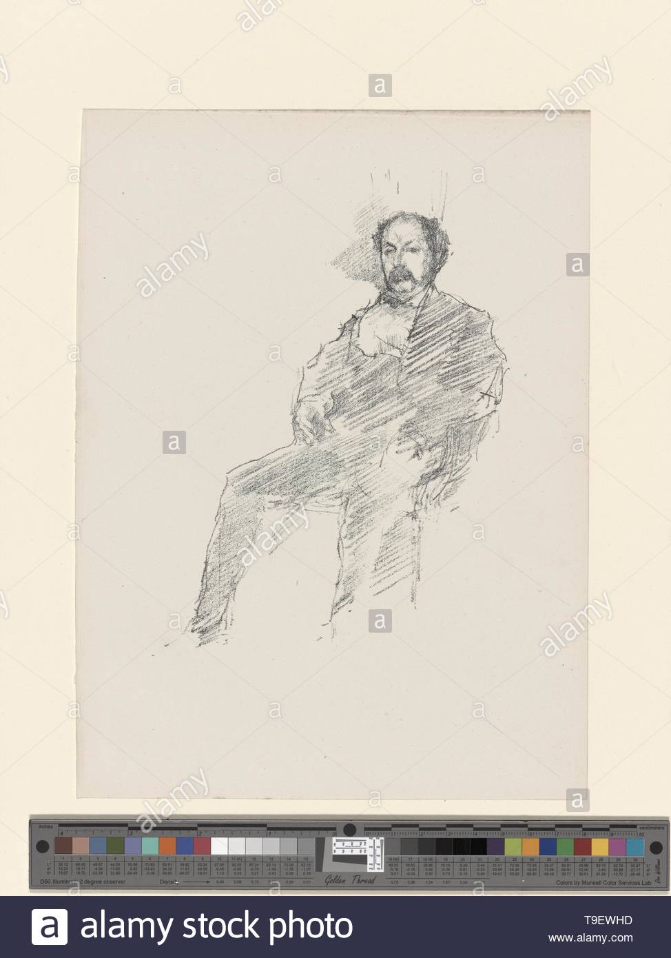 Whistler,JamesMcNeill(1834-1903)-The doctor - Stock Image