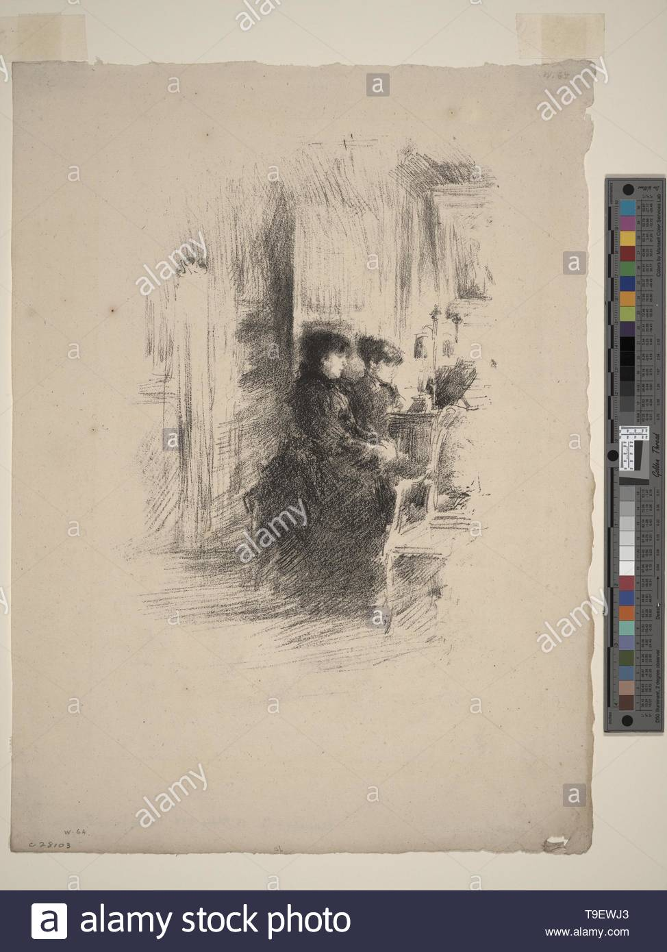 Whistler,JamesMcNeill(1834-1903)-The duet - Stock Image