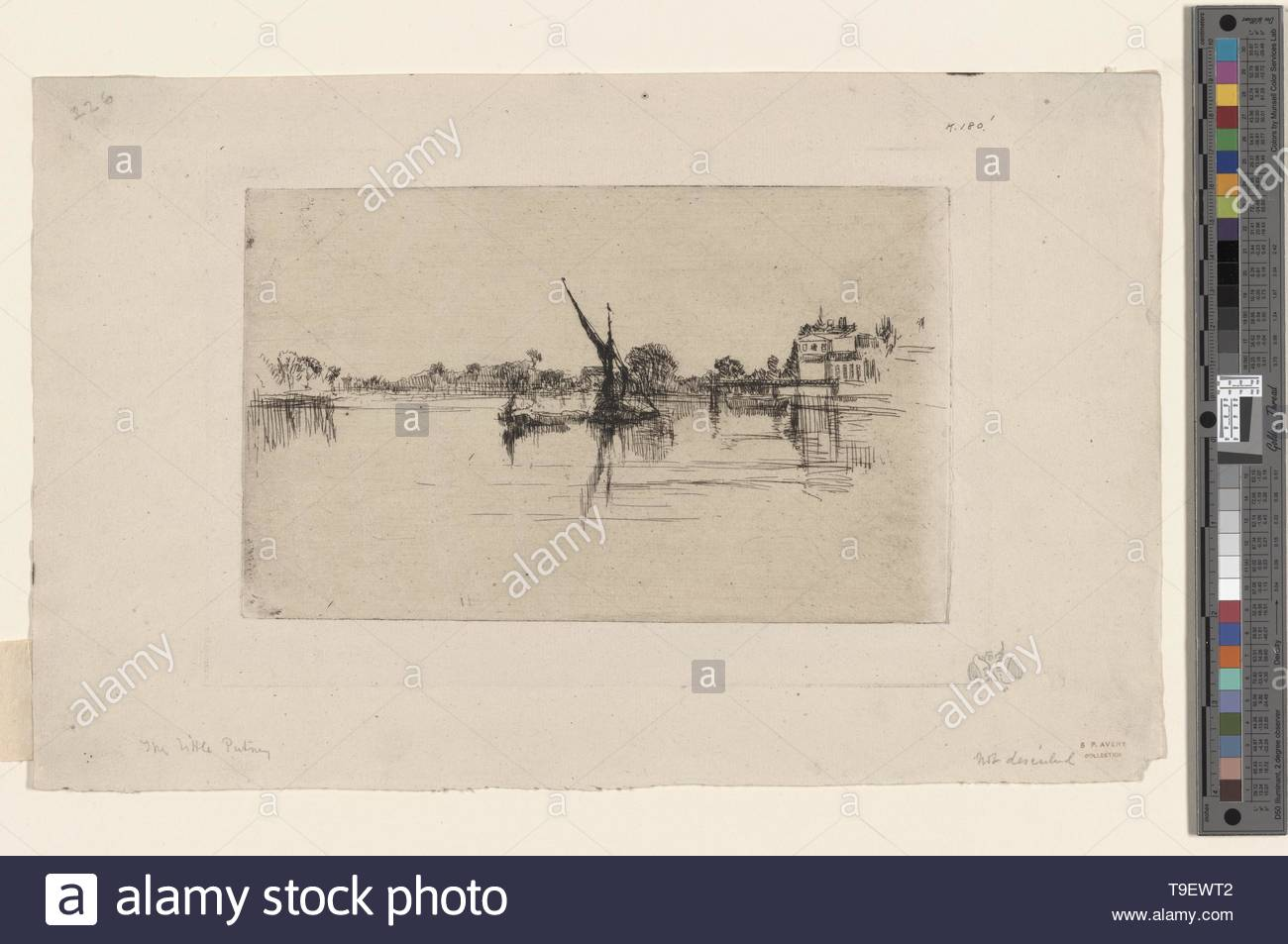 Whistler,JamesMcNeill(1834-1903)-The Little Putney, no  2 - Stock Image