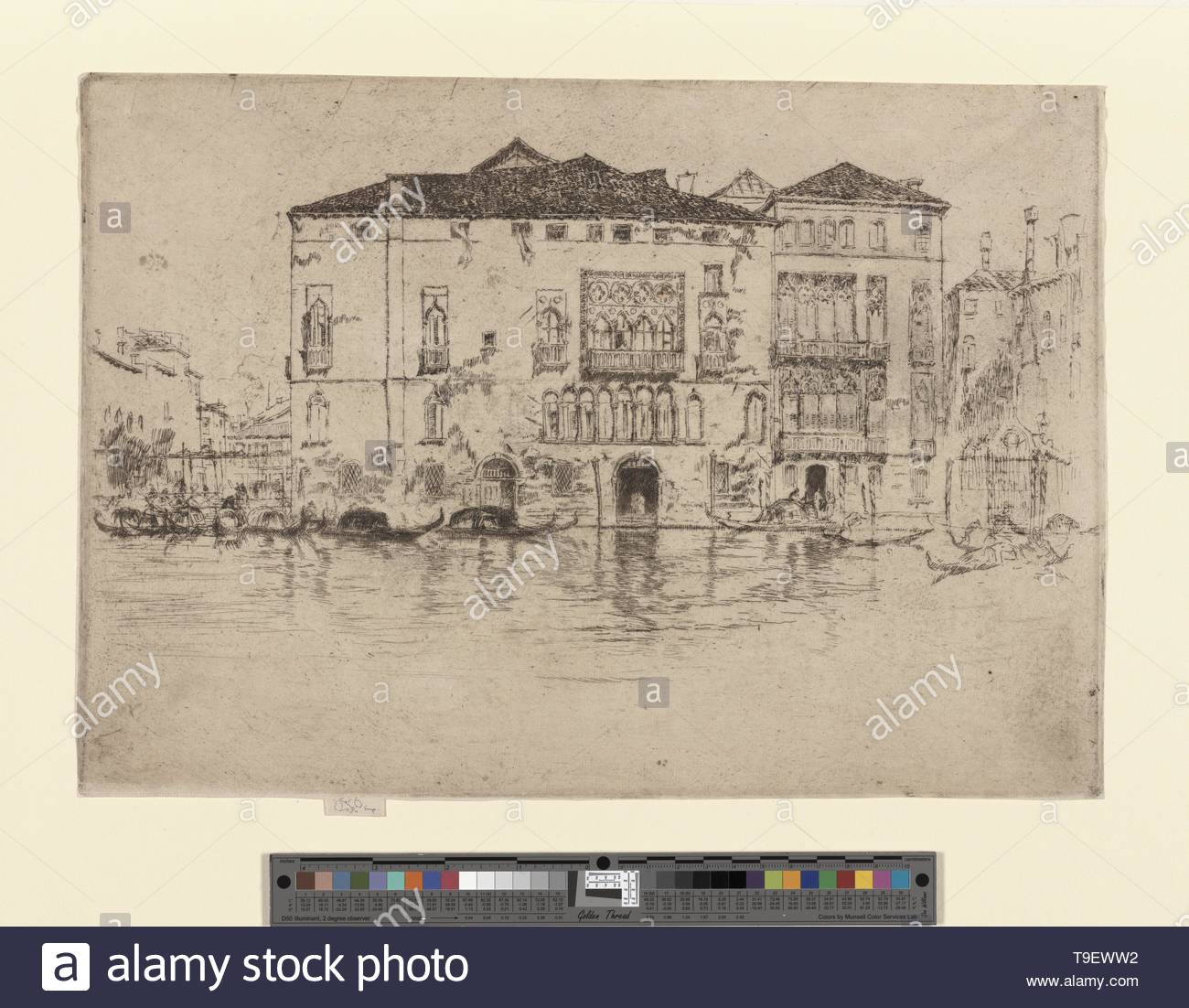 Whistler,JamesMcNeill(1834-1903)-The palaces - Stock Image