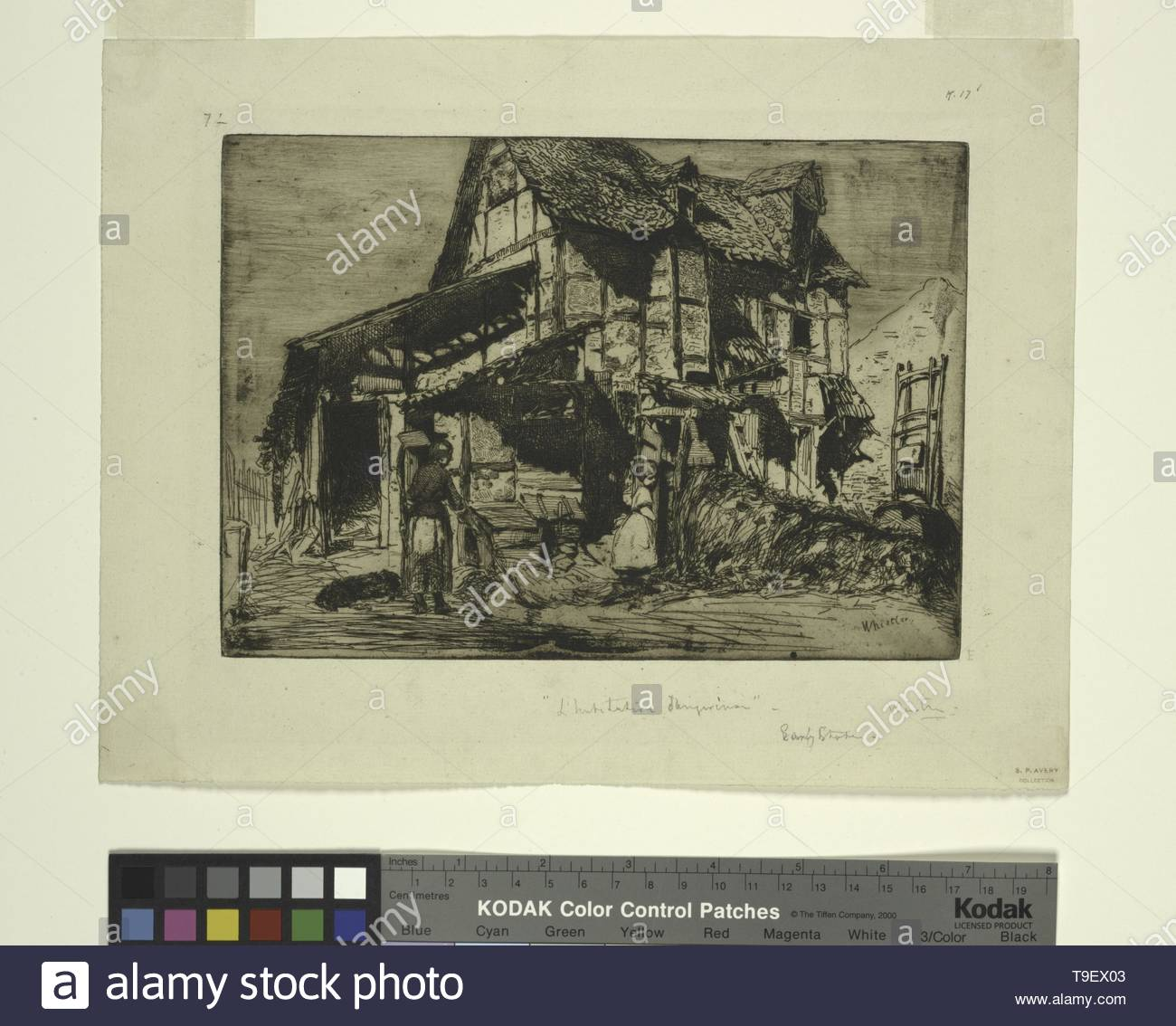 Whistler,JamesMcNeill(1834-1903)-The unsafe tenement [1] - Stock Image