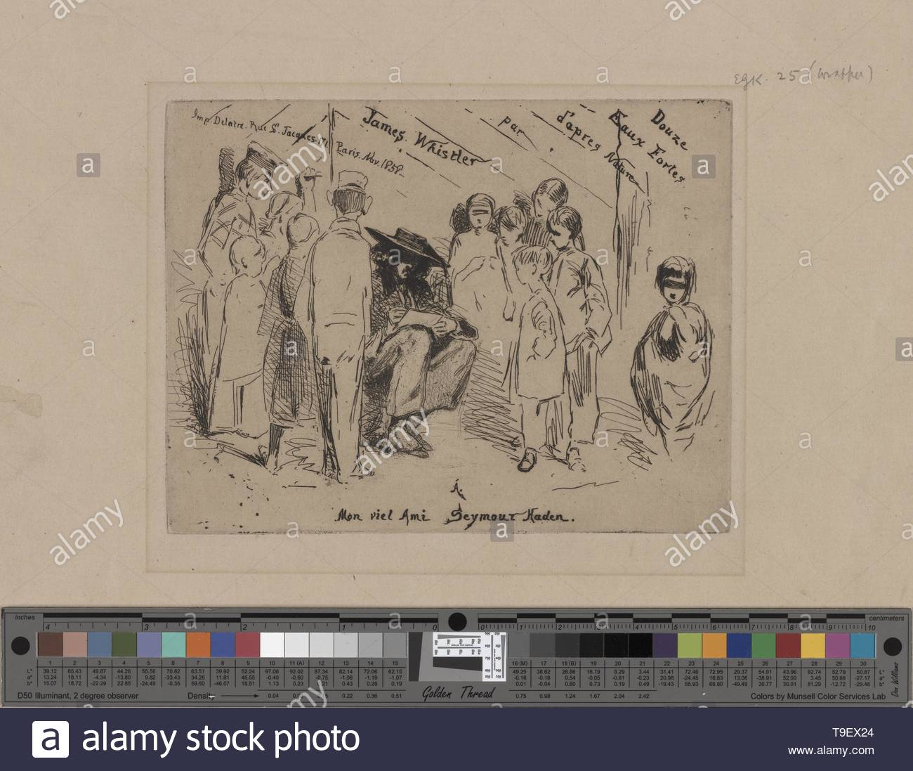 Whistler,JamesMcNeill(1834-1903)-Title to the French set (2) - Stock Image