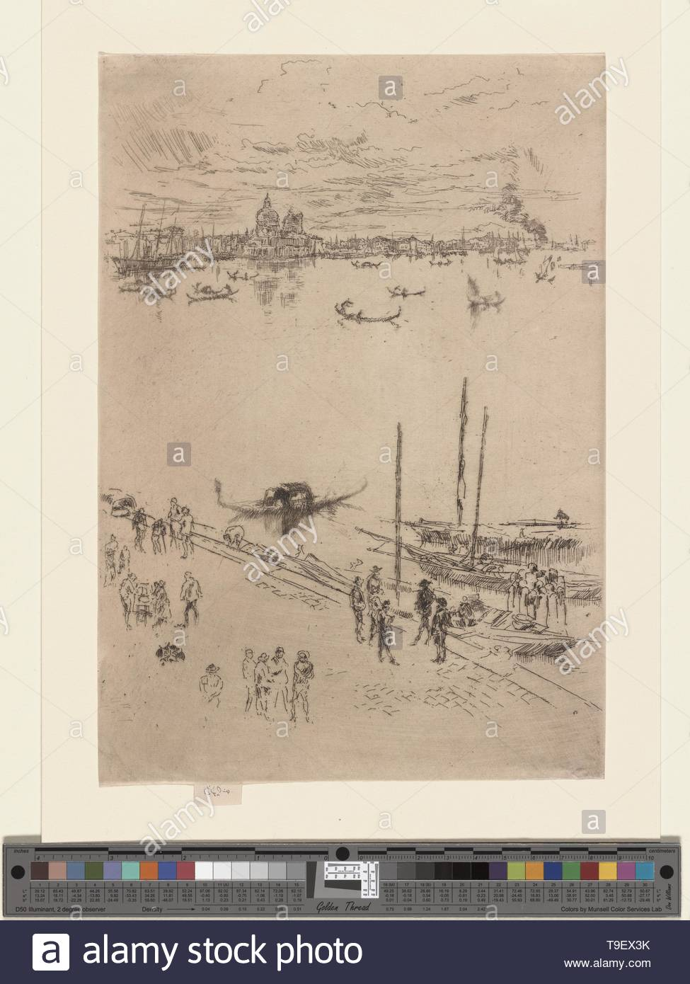 Whistler,JamesMcNeill(1834-1903)-Upright Venice - Stock Image