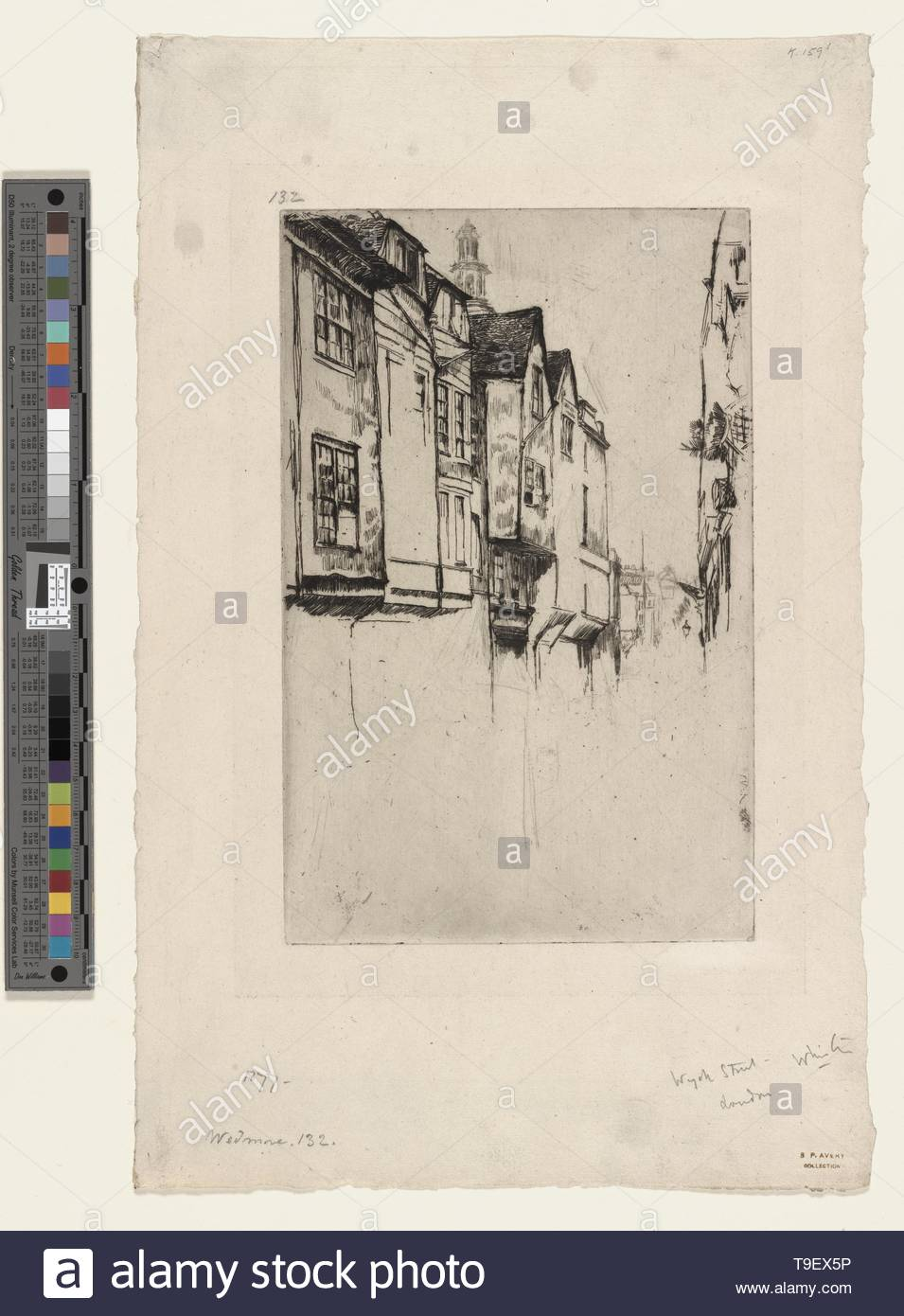 Whistler,JamesMcNeill(1834-1903)-Wych Street - Stock Image