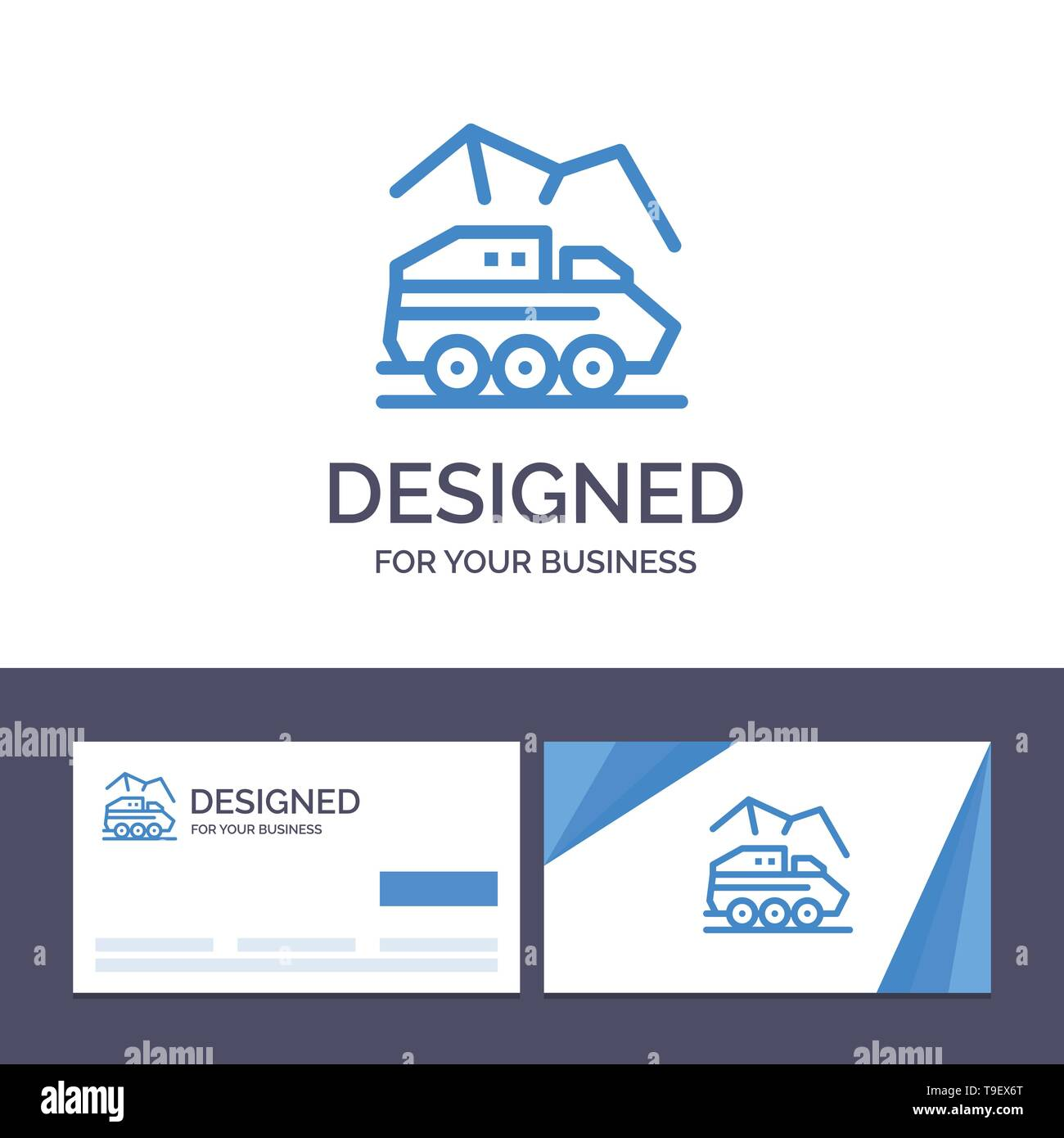 Creative Business Card and Logo template Exploration, Planet, Rover, Surface, Transport Vector Illustration - Stock Image