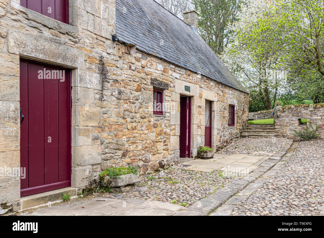 Cherryburn - a cottage which was the birthplace of Thomas Bewick,  Mickley, Northumberland UK - Stock Image