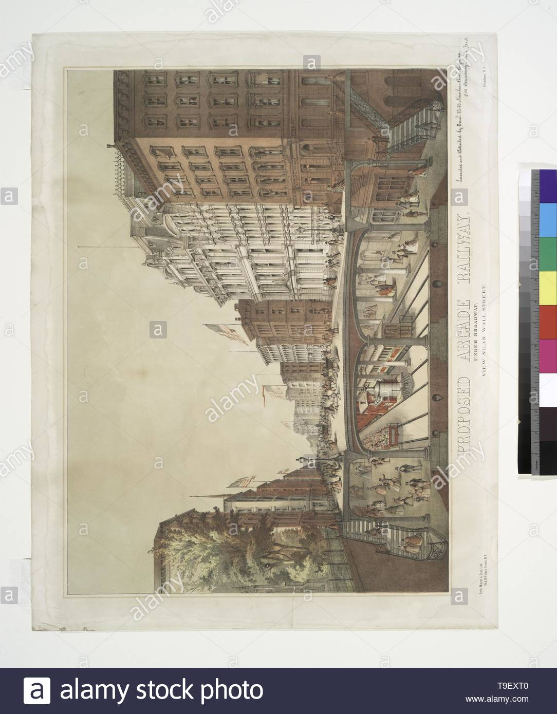 Will,JohnM August(1834-1910)-Proposed Arcade Railway  Under Broadway, view near Wall Street - Stock Image