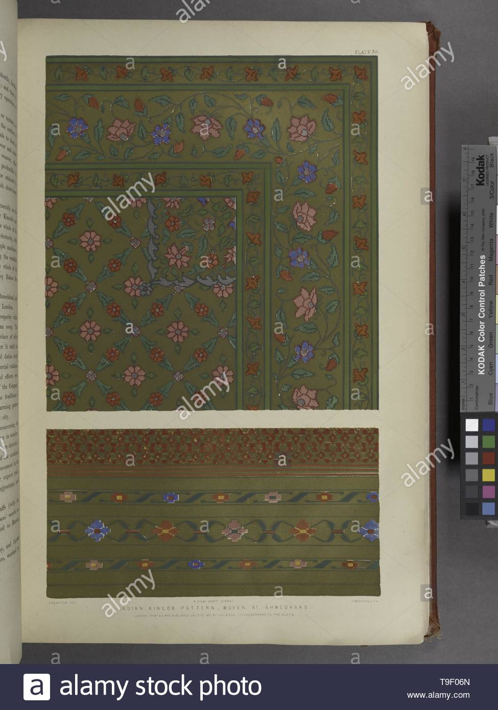 Wyatt,M Digby(MatthewDigby),Sir,1820-1877-Indian kincob pattern - woven at Ahmedabad - Stock Image