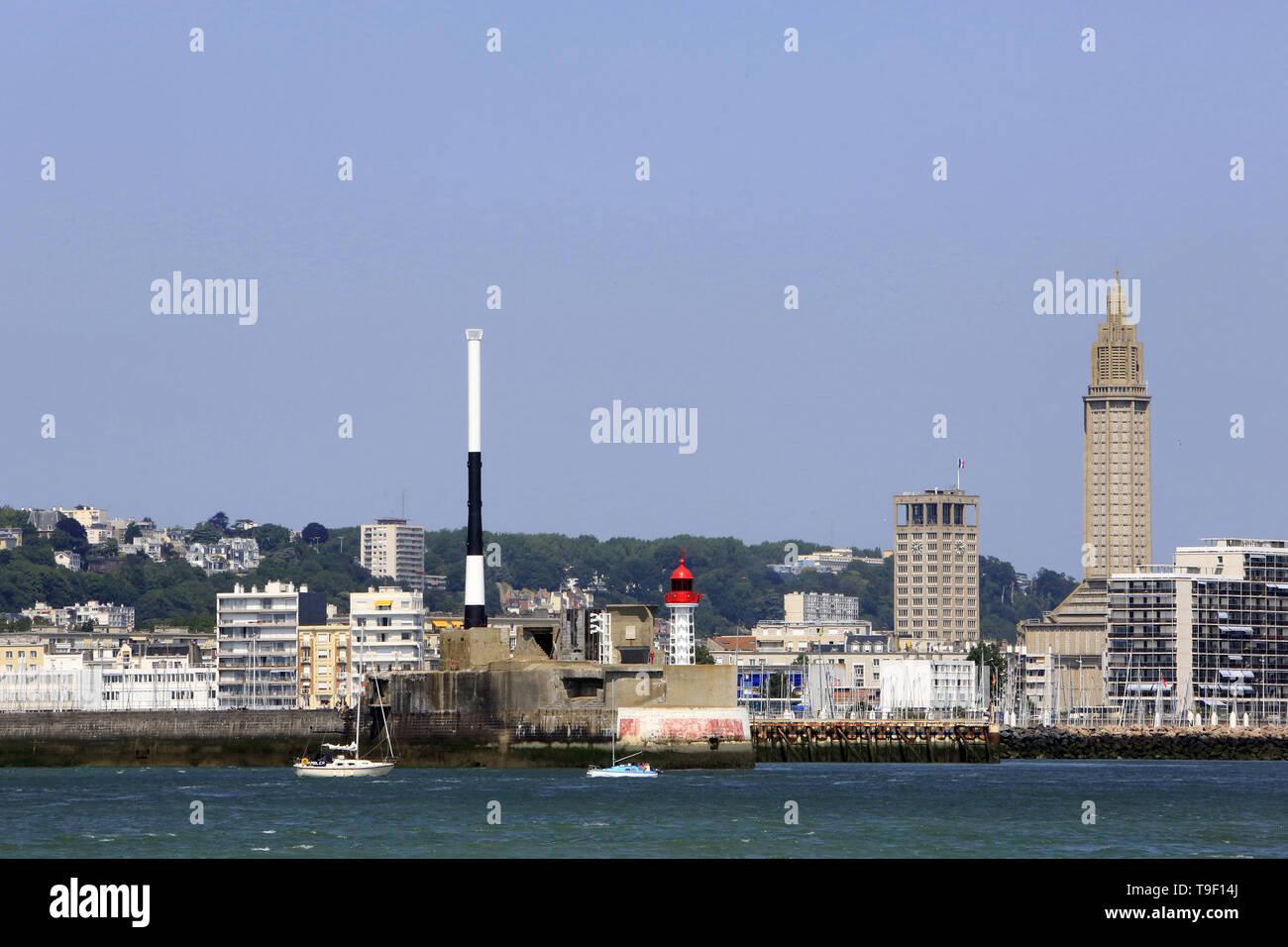 Seaside. Le Havre. - Stock Image