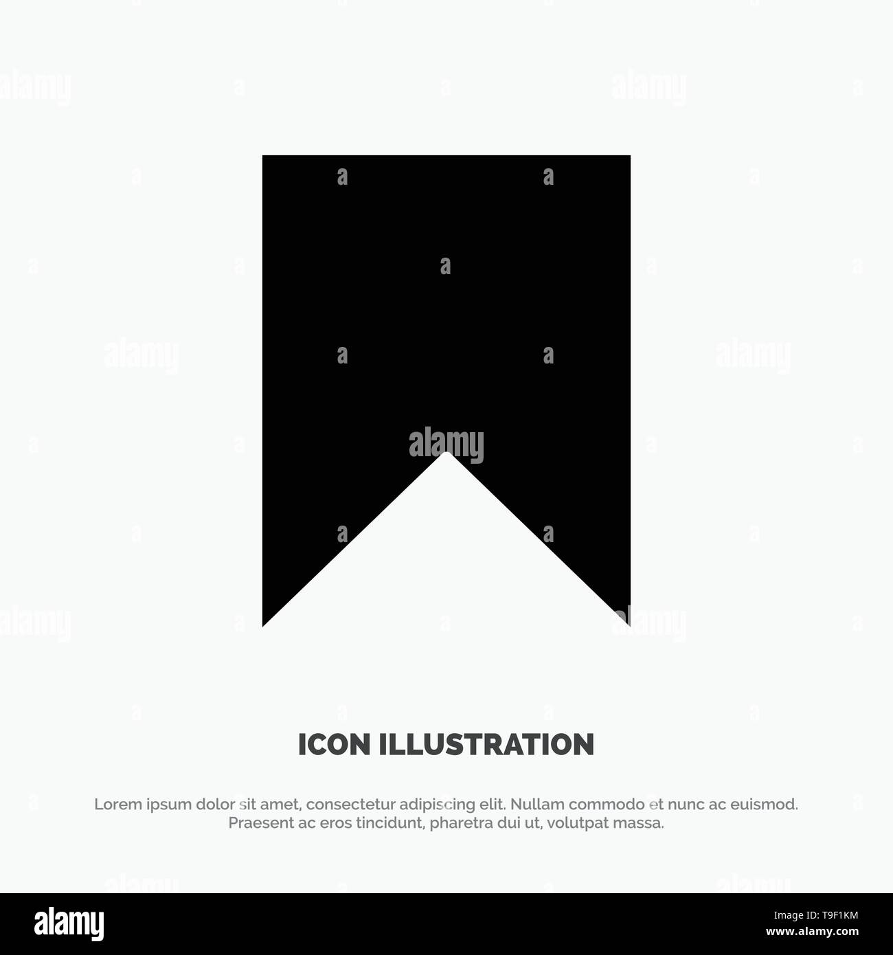 Flag, Instagram, Interface, Save, Tag solid Glyph Icon vector Stock