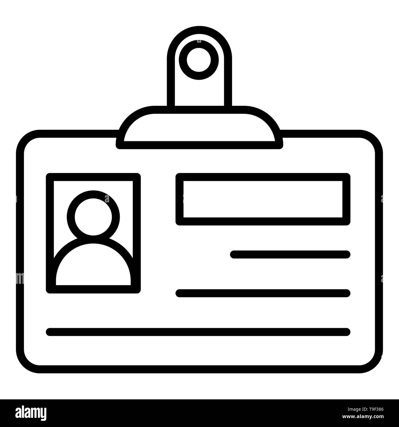 identity card icon vector illustration business outline stock photo alamy https www alamy com identity card icon vector illustration business outline image246808918 html