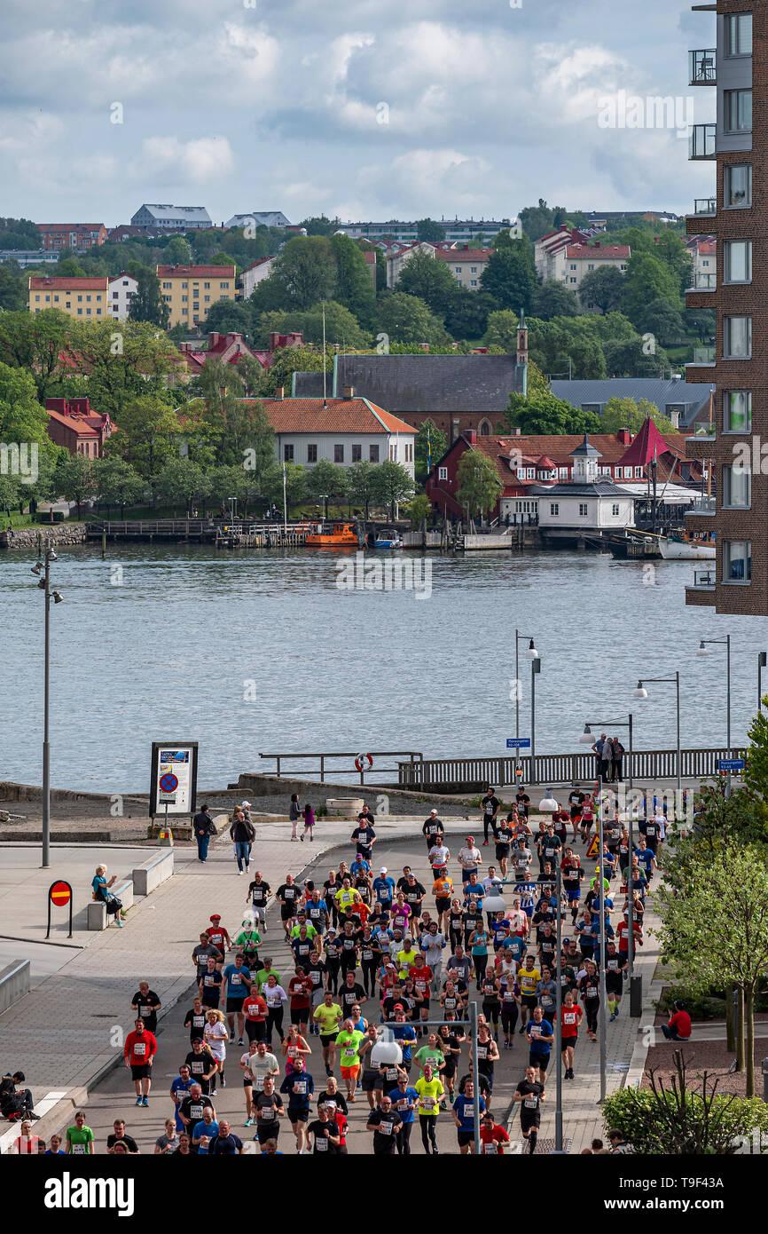Gothenburg, Sweden - May 18 2019 Gothenburg half marathon. One of the worlds biggest half marathon event, with over 60 000 runners. Stock Photo