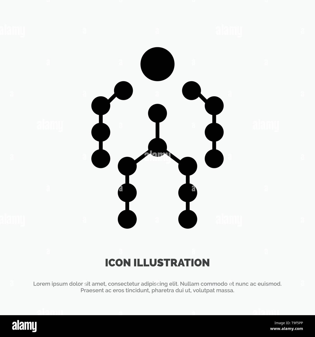 Action, Bones, Capture, Human, Motion solid Glyph Icon vector - Stock Image