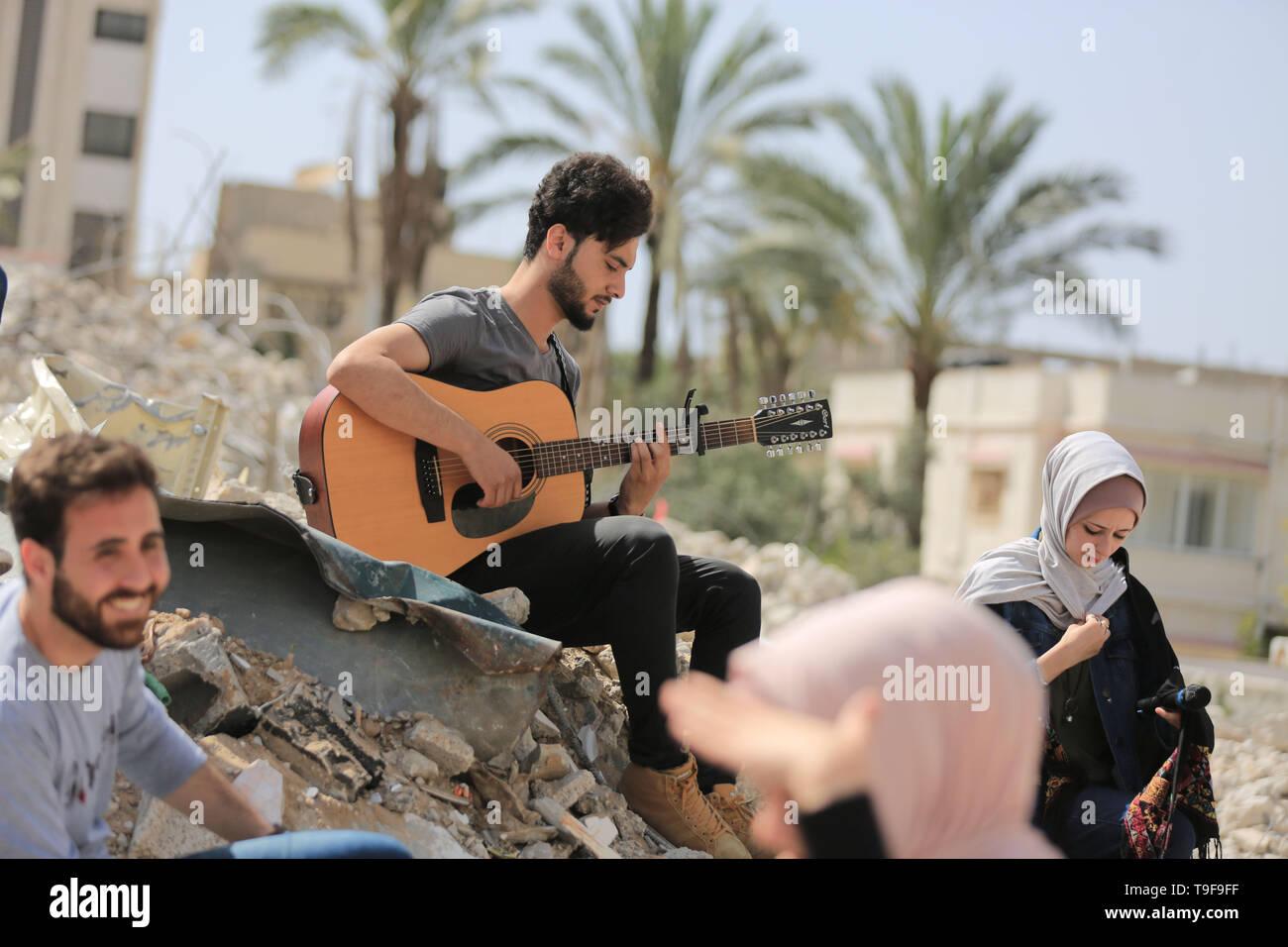 Gaza City, The Gaza Strip, Palestine  18th May, 2019  Palestinian