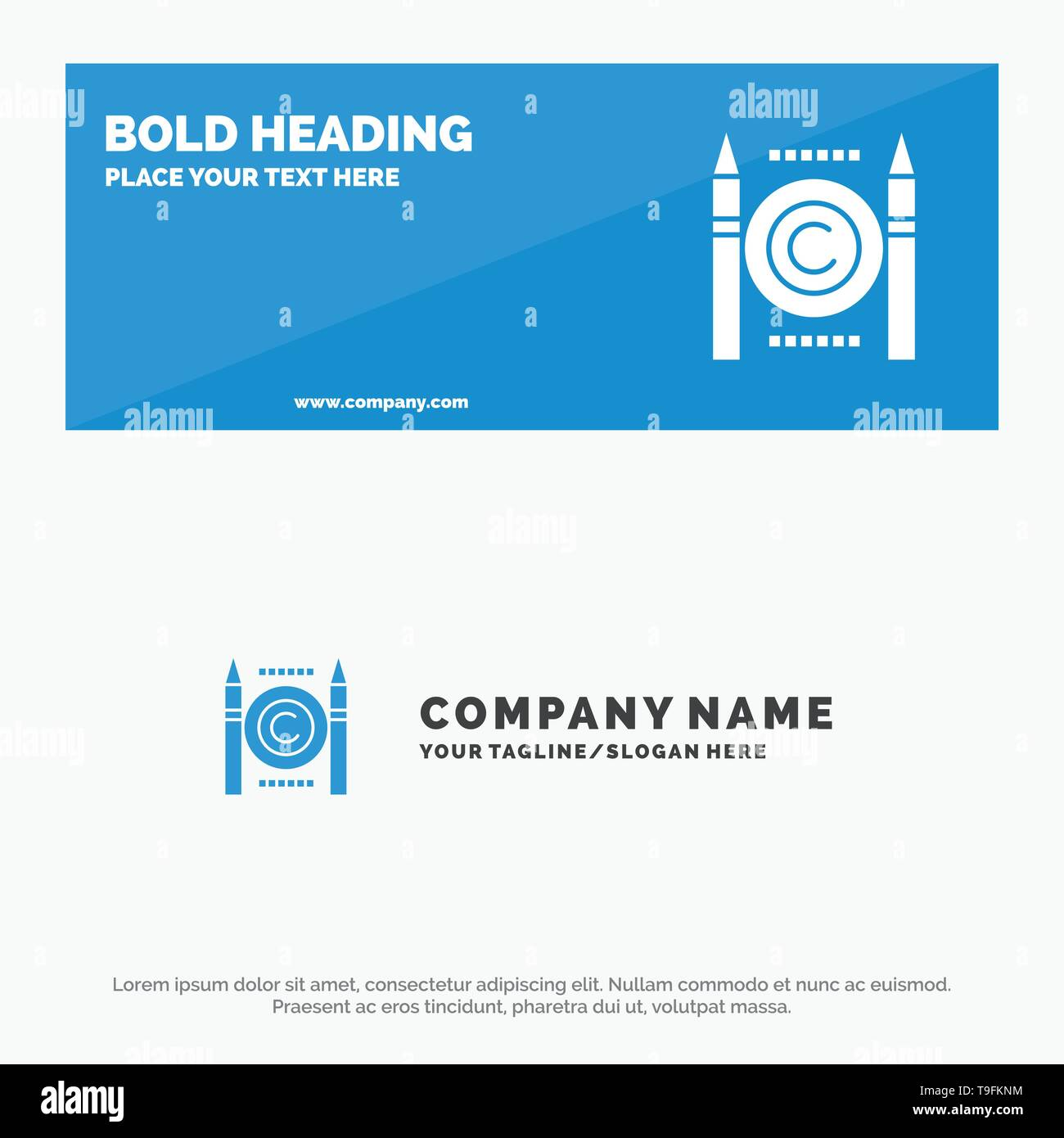 Business, Conflict, Copyright, Digital SOlid Icon Website Banner and Business Logo Template - Stock Image