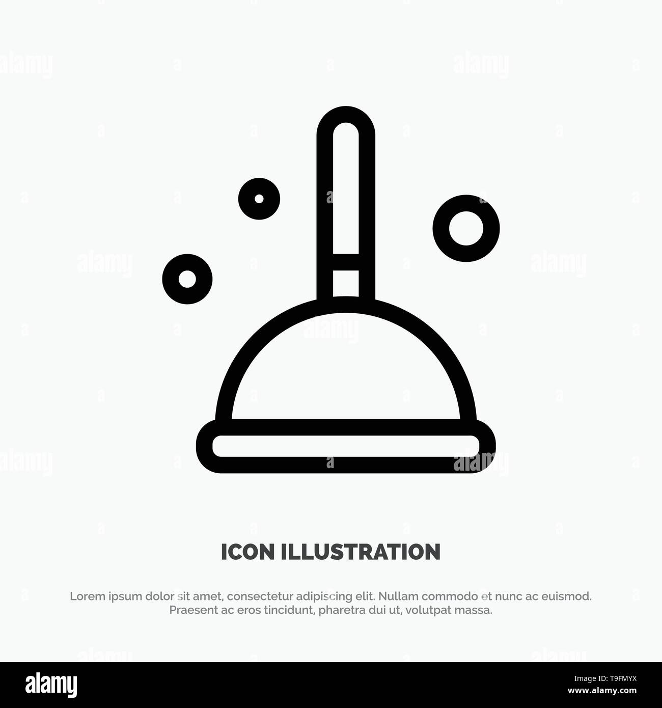 Broom, Cleaning, Mop, Witch Line Icon Vector - Stock Vector
