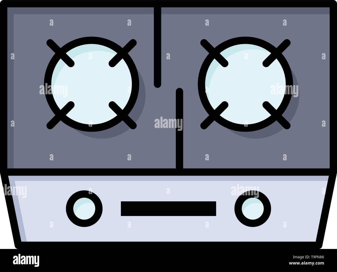 Stove Gas Kitchen Cooking Flat Color Icon Vector Icon Banner Template Stock Vector Image Art Alamy