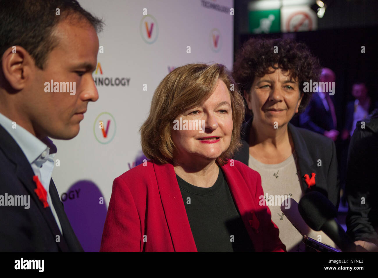 Nathalie Loisseau candidate for the French European election visiting the show Viva Technology in Paris - Stock Image