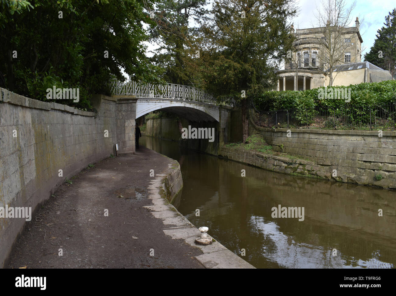The Kennet of Avon canal in Sydney Gardens, Bath. - Stock Image
