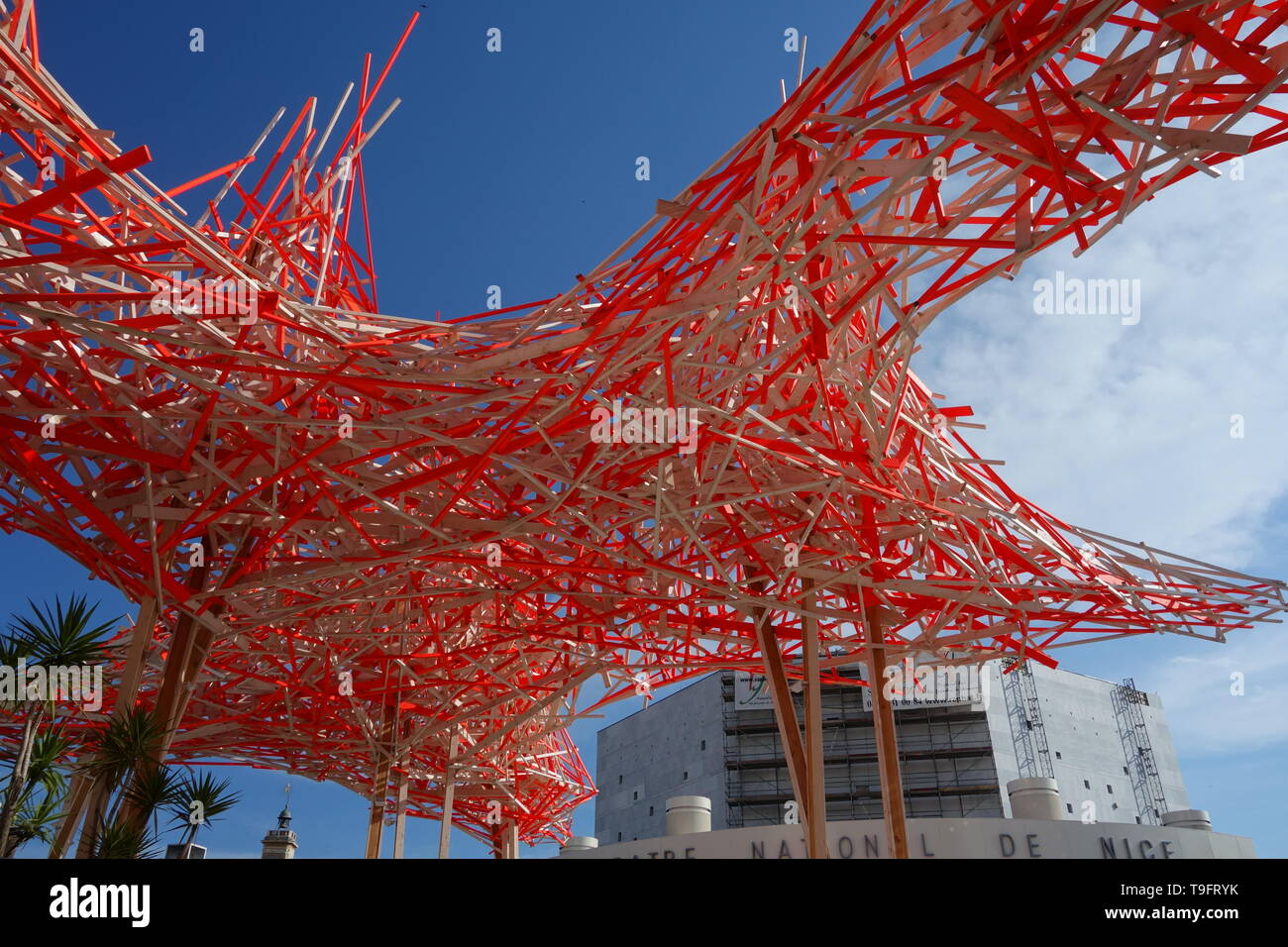 Nizza, Musee d'art moderne et d'art contemporain de Nice, Installation Tribut an Alexander Calder von Arne Quinze - Nice, Musee d'art moderne et d'art Stock Photo