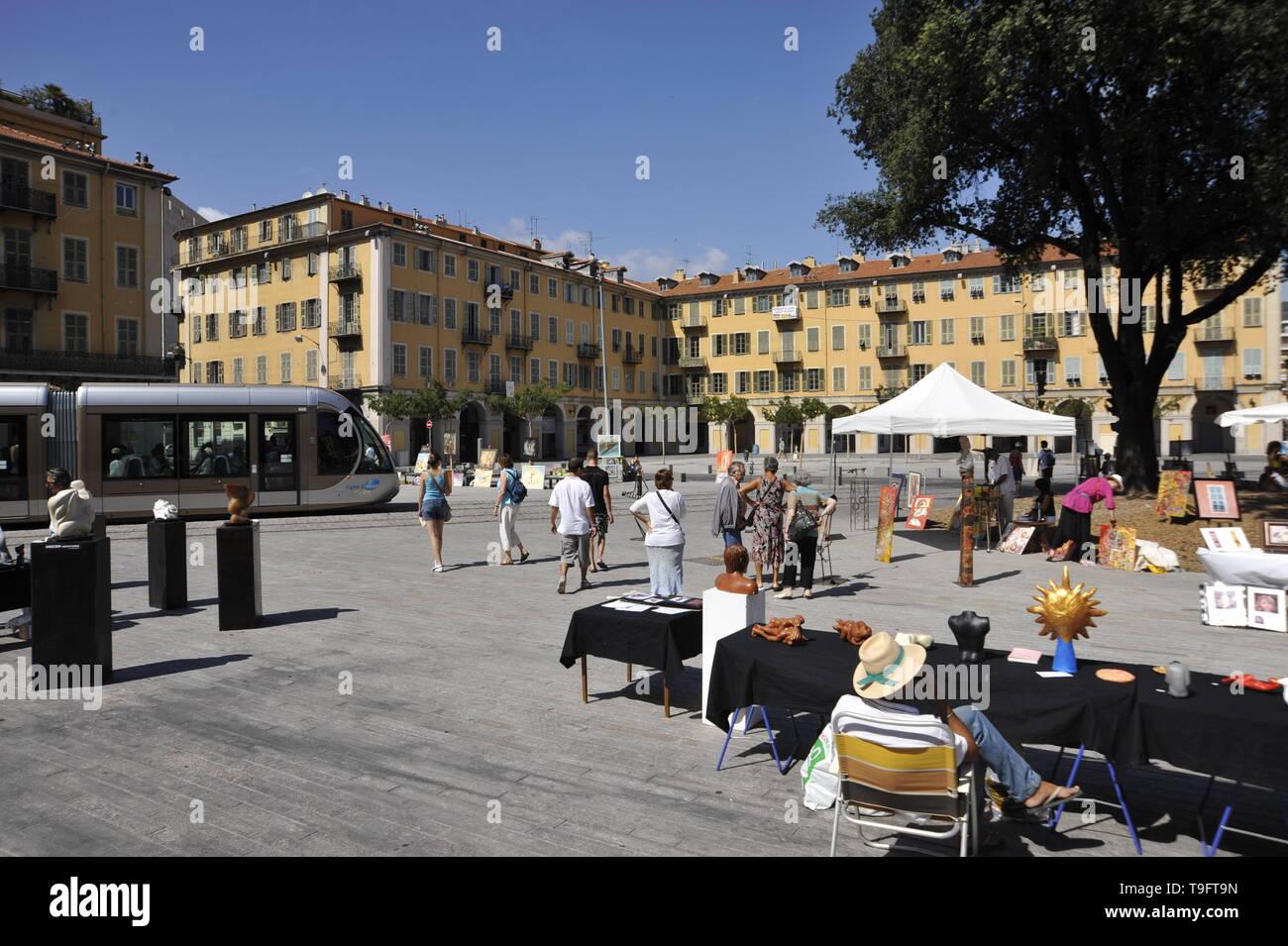 Tramway Nizza, Garibaldi - Stock Image