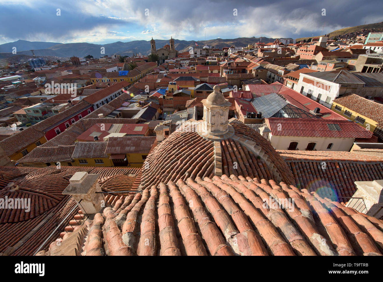 Rooftop view of the San Francisco Church and Convent, Potosí, Bolivia - Stock Image