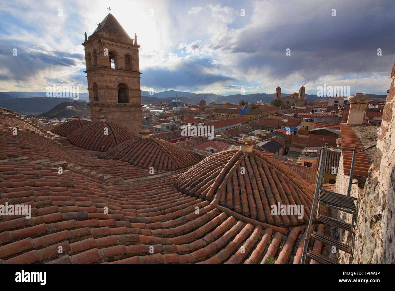 Rooftop view from the San Francisco Church and Convent, Potosí, Bolivia - Stock Image
