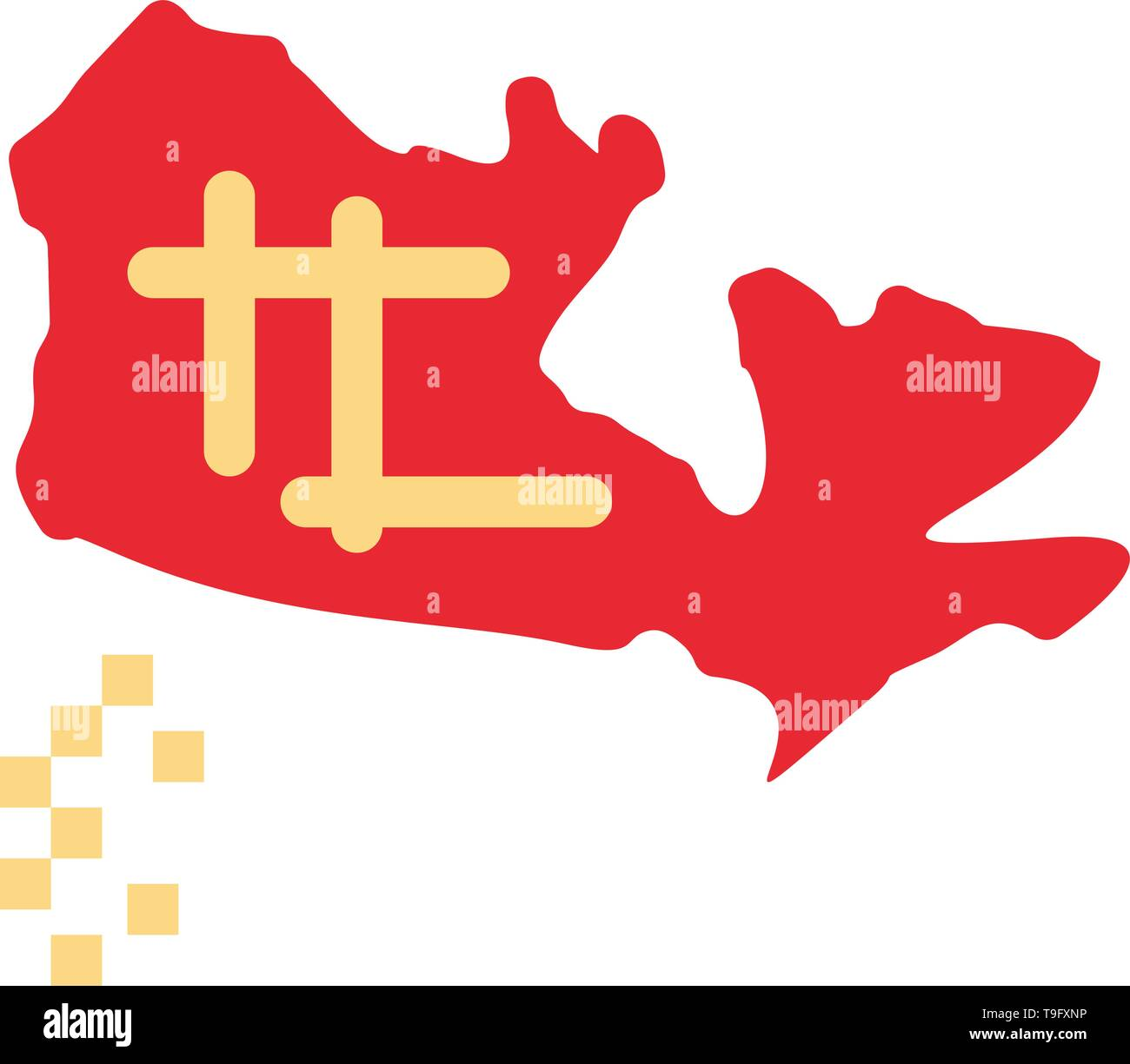 Canada, Map, Location Flat Color Icon. Vector icon banner Template on