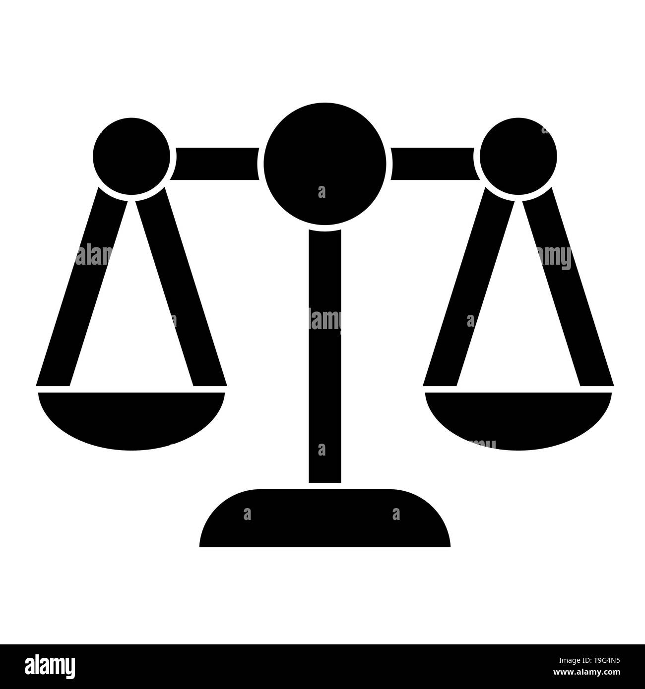 Justice Icon, Vector Illustration, Business Outline - Stock Image