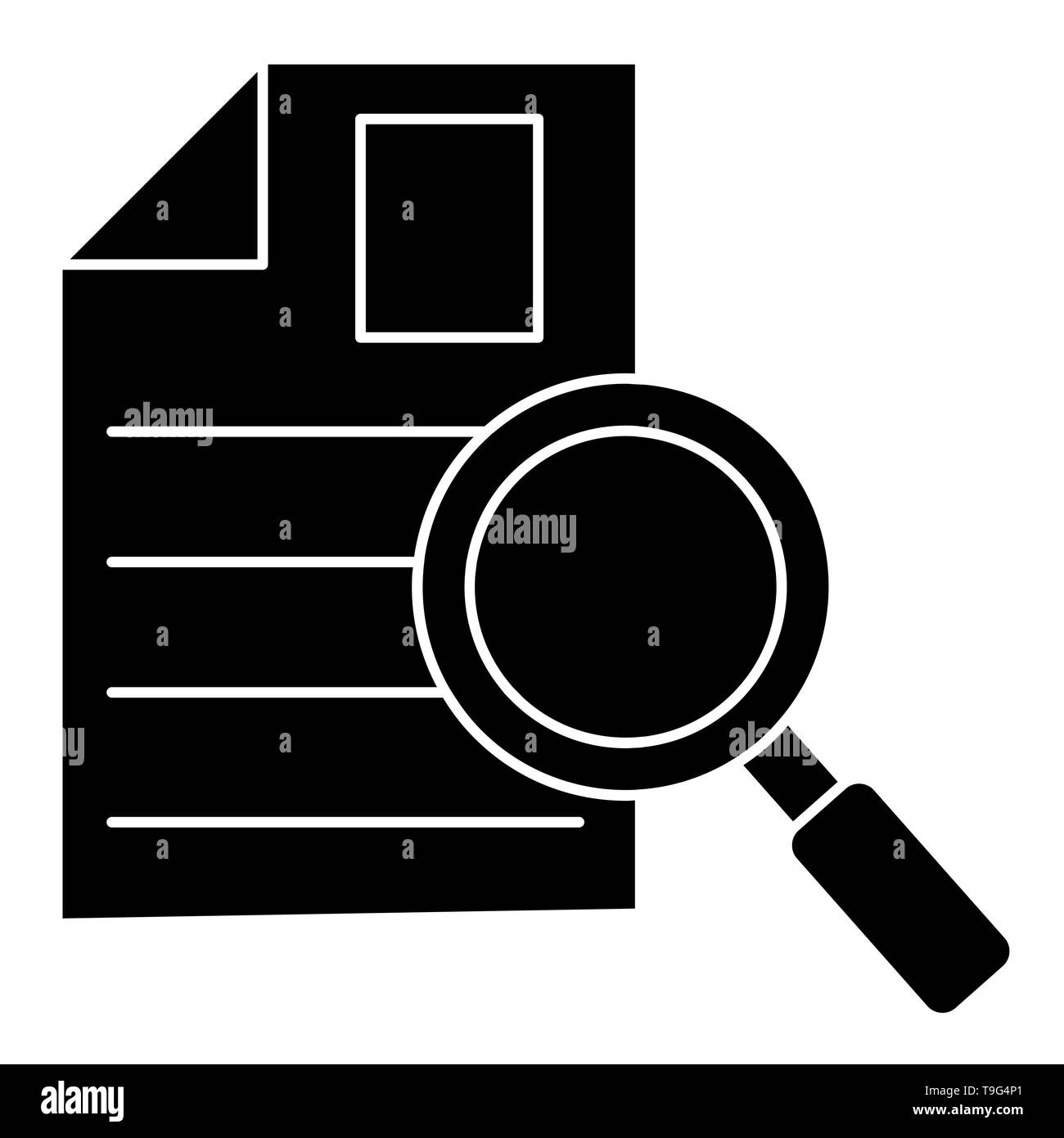 Search Icon, Vector Illustration, Business Outline - Stock Image