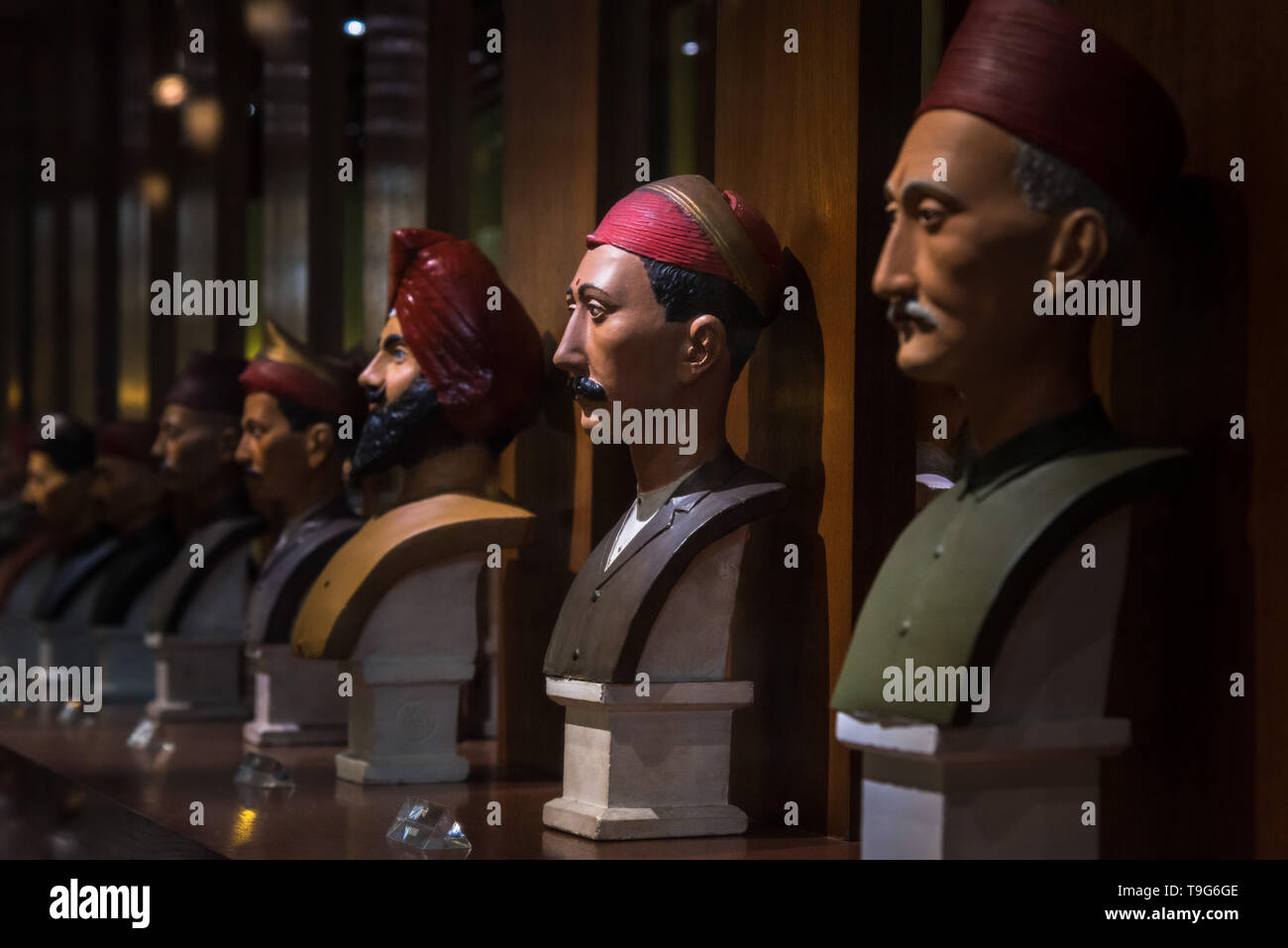 People of the city, Dr Bhau Daji Lad Museum, Mumbai, India - Stock Image
