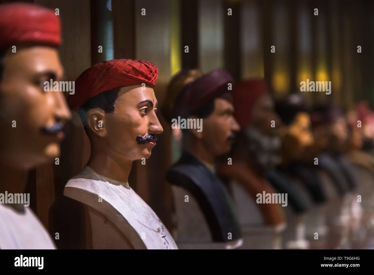 People of the city, Dr Bhau Daji Lad Museum, Mumbai, India - Stock Image