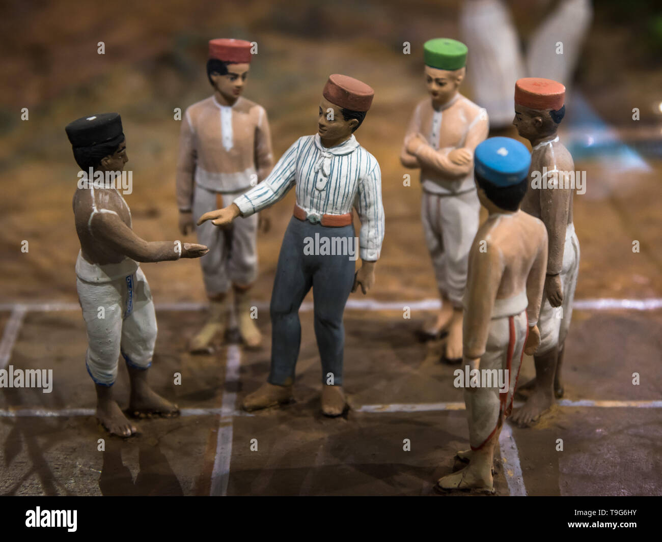 Atya Patya game diorama, Dr Bhau Daji Lad Museum, Mumbai, India Stock Photo