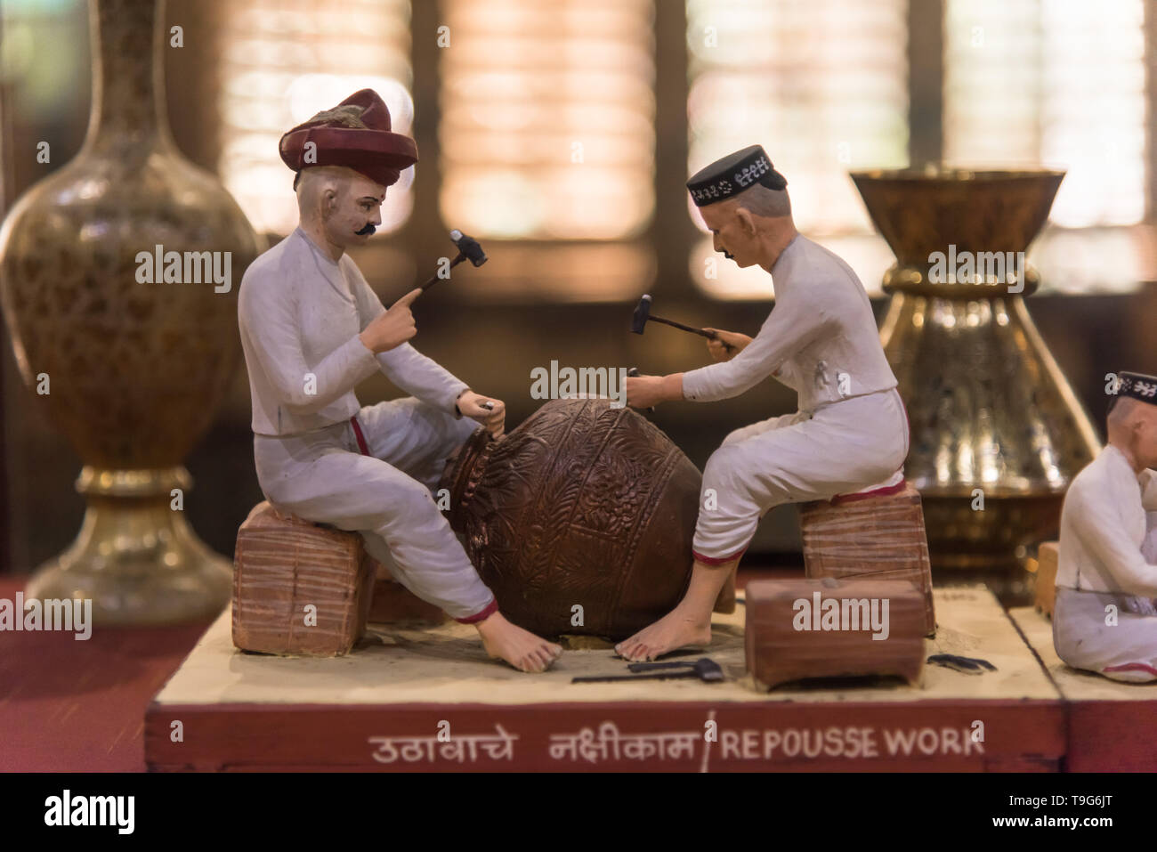 Repousse Work clay model, Dr Bhau Daji Lad Museum, Mumbai, India - Stock Image
