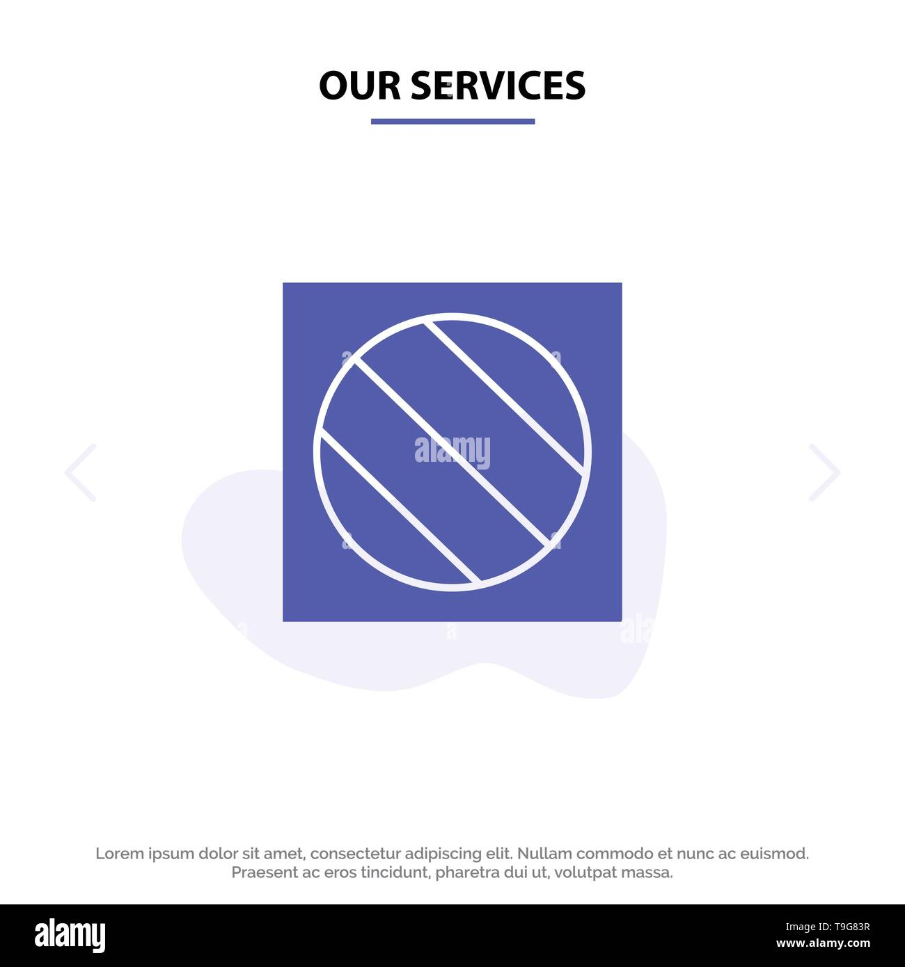 Our Services Full Shadow, Editing, Photo, Shadow Solid Glyph Icon Web card Template - Stock Image