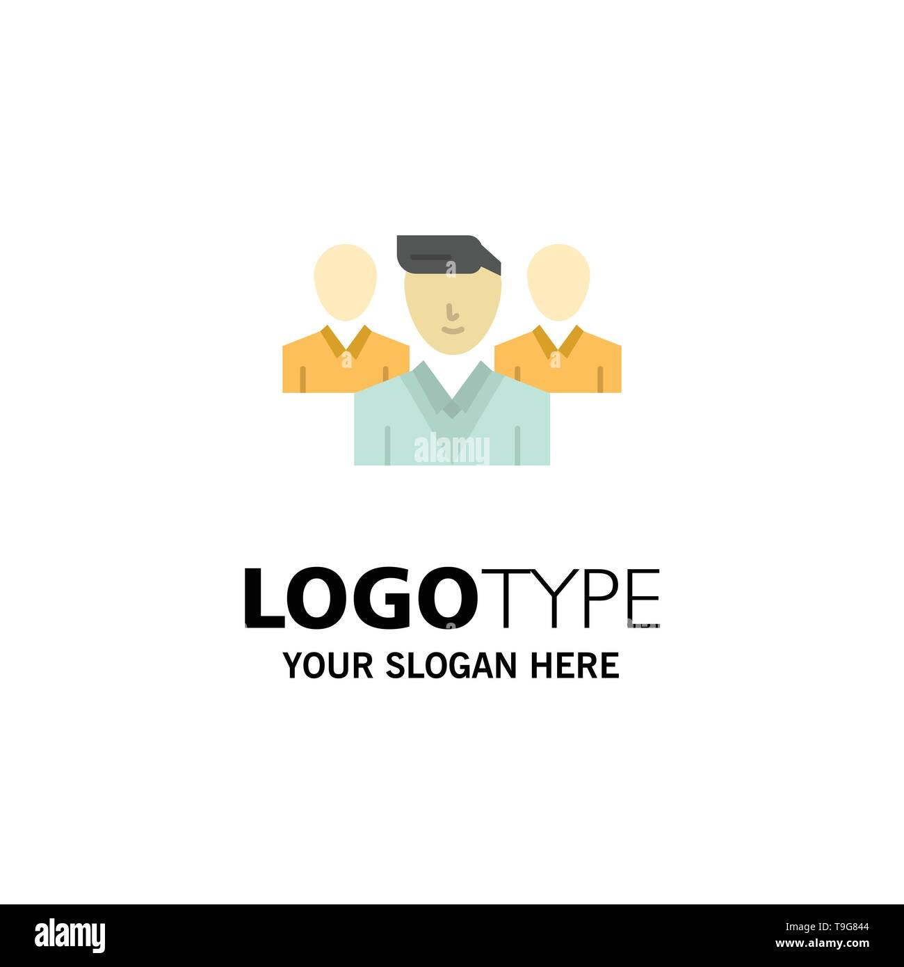 Staff, Security, Friend zone, Gang Business Logo Template. Flat Color - Stock Image