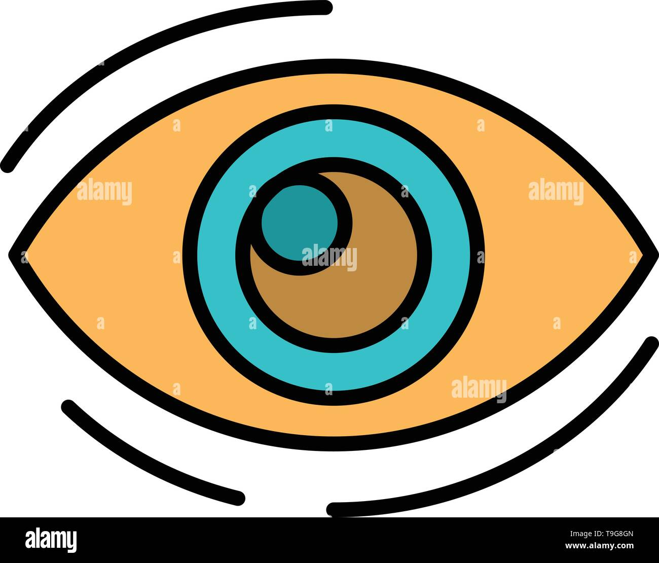 Eye Find Look Looking Search See View Flat Color Icon Vector Icon Banner Template Stock Vector Image Art Alamy