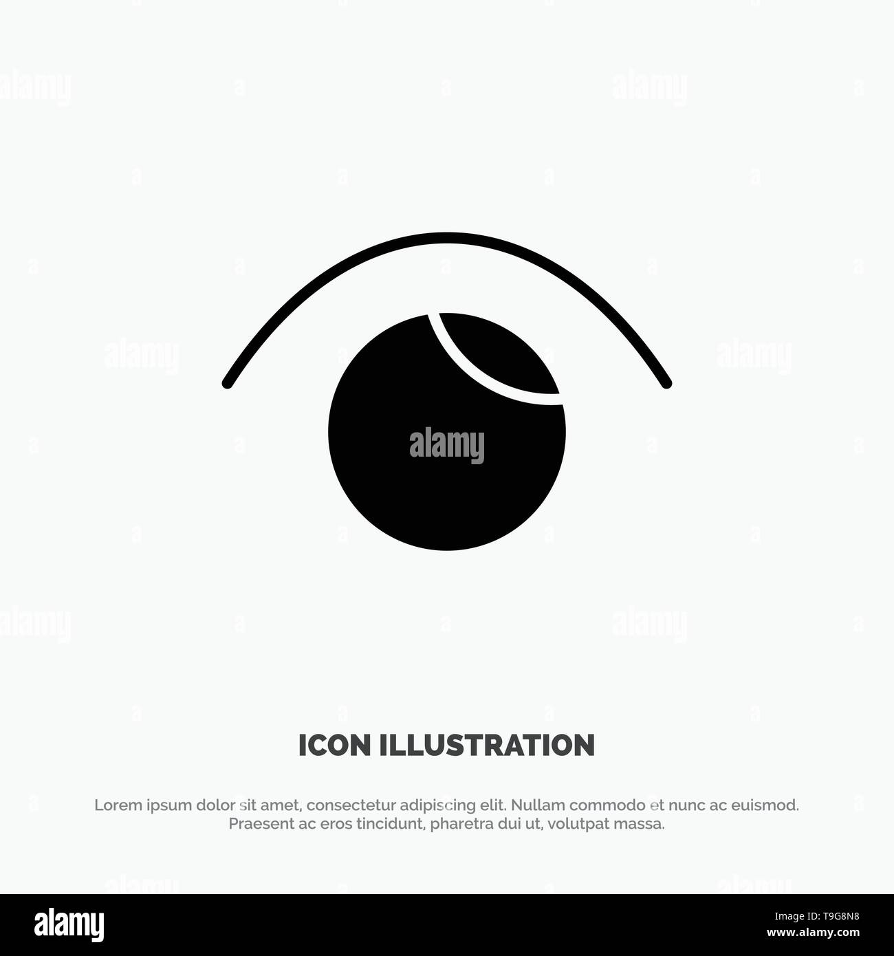 Eye, View, Watch, Twitter solid Glyph Icon vector - Stock Image