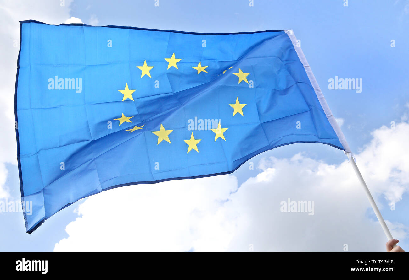 A European Union flag seen during the Equality March in