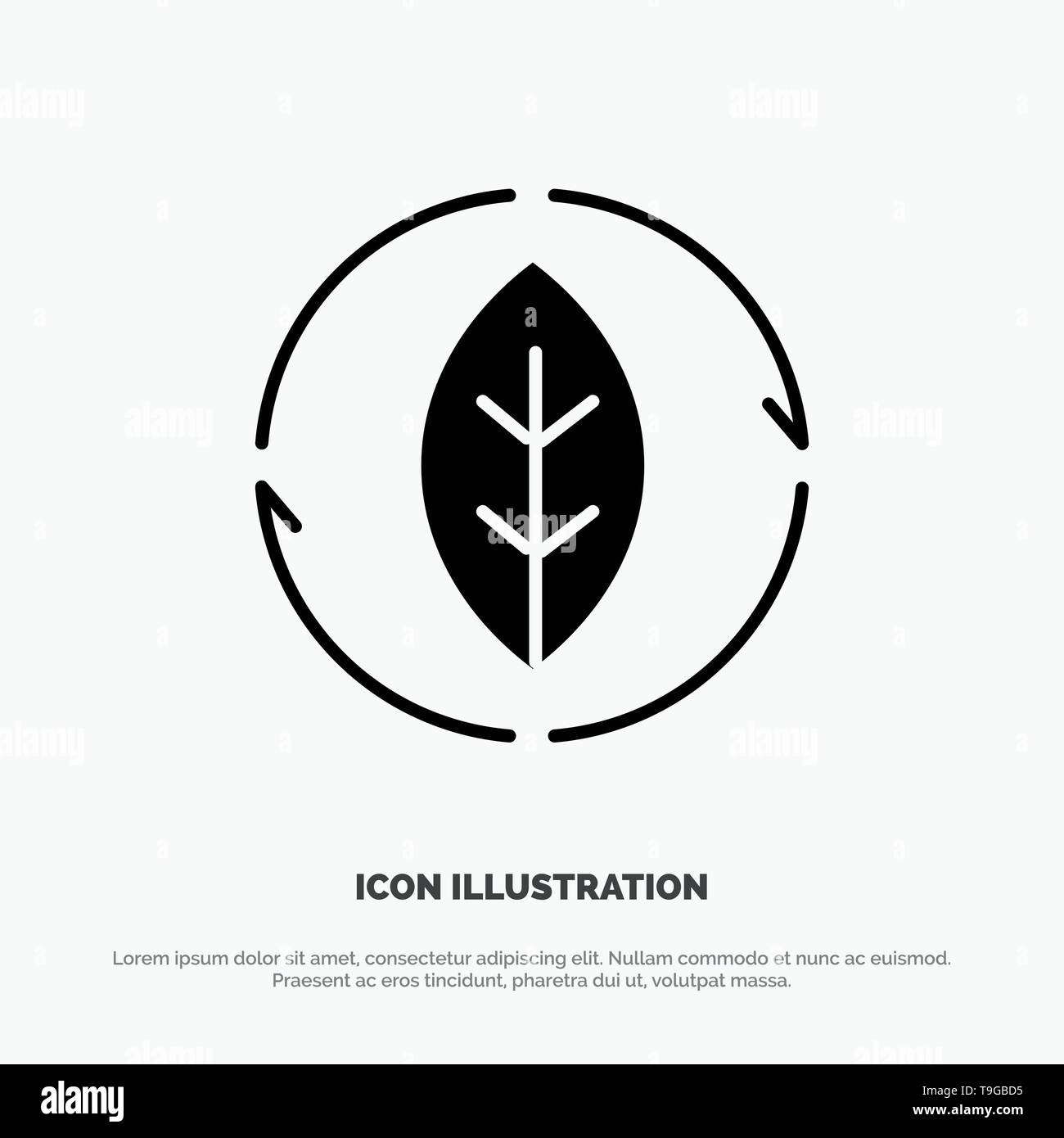 Energy, Green, Source, Power solid Glyph Icon vector Stock