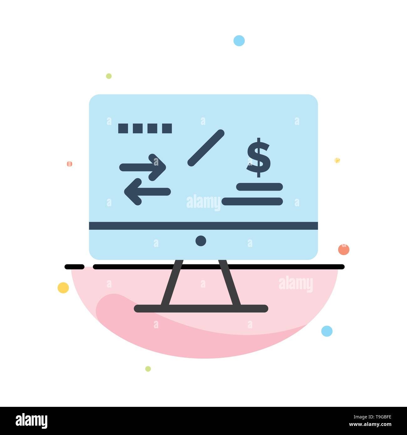 Tax Regulation, Finance, Income, Computer Abstract Flat Color Icon Template - Stock Vector