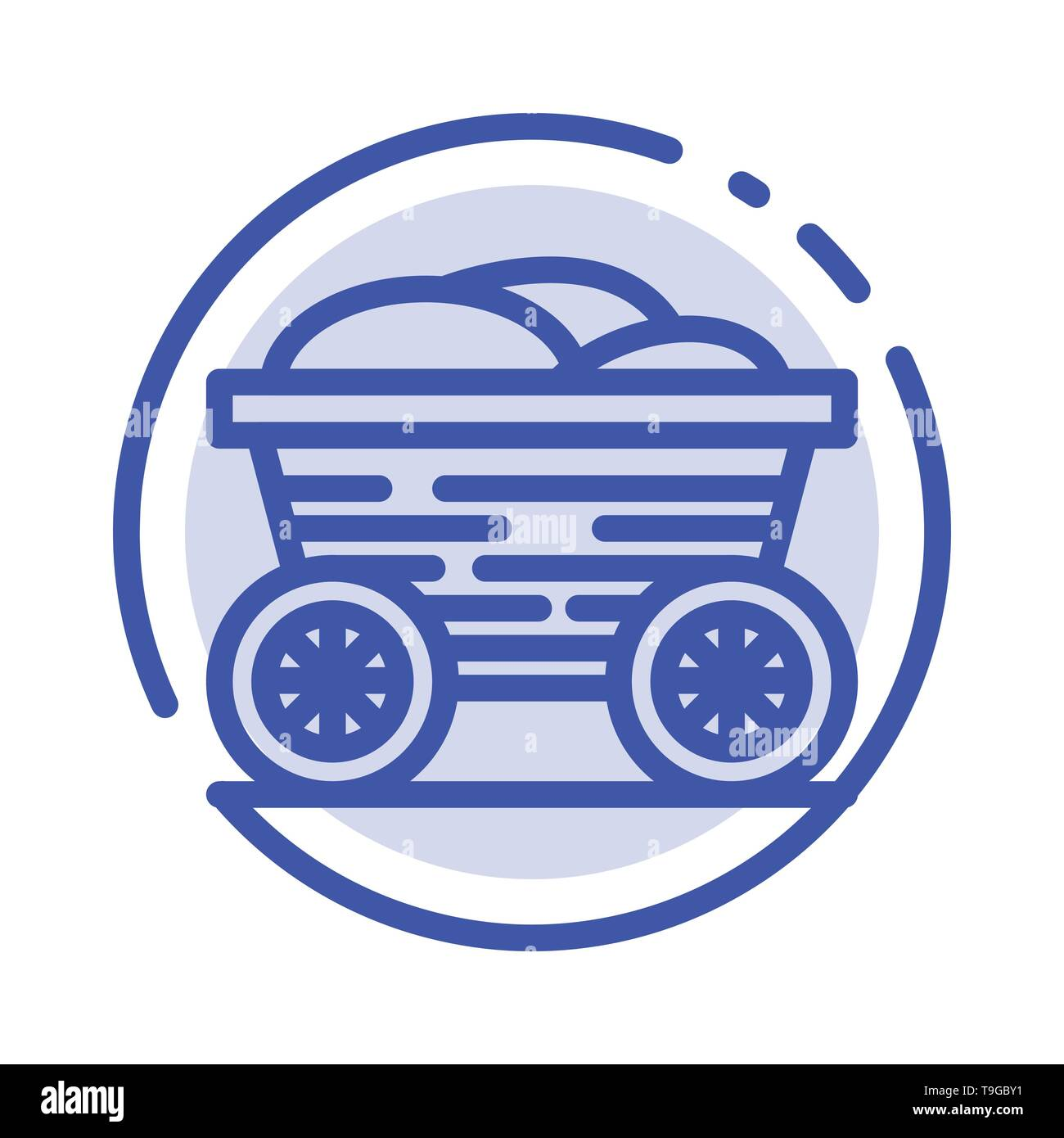 Trolley, Cart, Food, Bangladesh Blue Dotted Line Line Icon - Stock Vector
