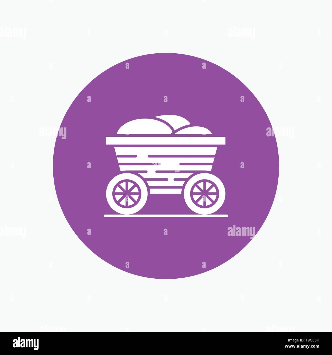 Trolley, Cart, Food, Bangladesh - Stock Vector