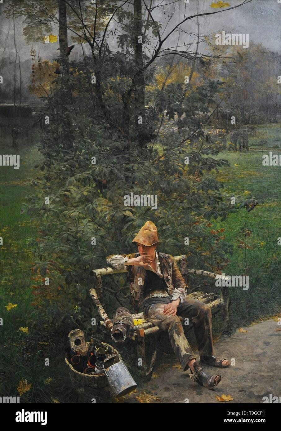 Jacek Malczewski (1854-1929). Pintor polaco. Introducción, 1890. Galería de Arte Polaco del siglo XIX (Lonja de los Paños, Sukiennice). Museo Nacional de Cracovia. Polonia. - Stock Image